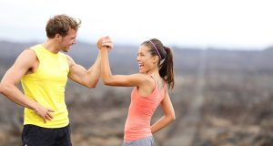 couple faisant du sport